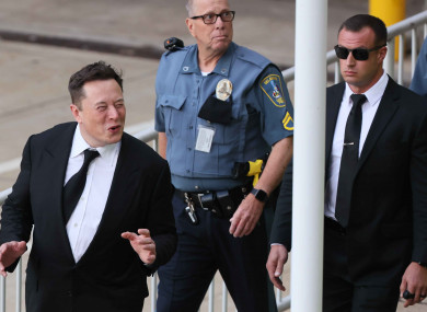 Musk arriving to court in Delaware this week