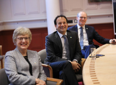 File image: Zappone, Varadkar and Coveney pictured last June when Ireland won its seat on the UN Security Council.