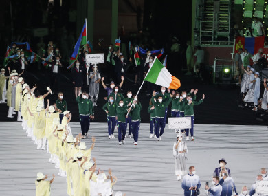 Ireland at the Opening Ceremony of the 2020 Tokyo Olympic Games