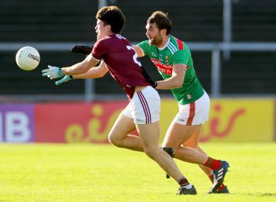 Galway's Sean Kelly and Mayo's Aidan O'Shea.