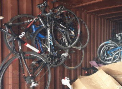 Some of the recovered bikes.