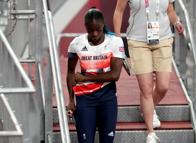 Great Britain's Dina Asher-Smith at the Olympics.