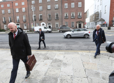 NPHET members arriving to government buildings in October 2020.