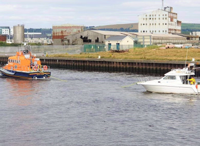 Arklow RNLI towing the boat back to the harbour Source: Brian Davis, Arklow RNLI