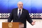 Belarus President Alexander Lukashenko speaks during a meeting with officials in Minsk, Belarus, last Friday (file photo).