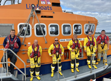 Courtmacsherry Lifeboat crew under Coxswain Sean O'Farrell after this afternoon's callout