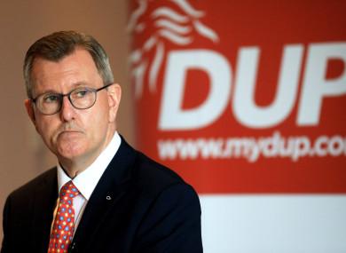 Newly elected DUP leader Jeffrey Donaldson.