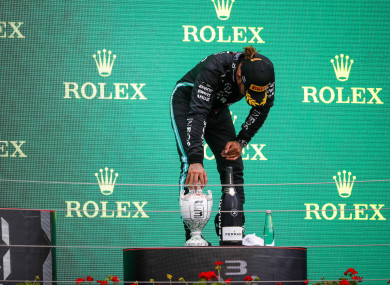 Lewis Hamilton after the Hungarian Grand Prix.