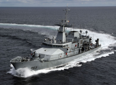 The LÉ William Butler Yeats detained the French registered vessel.