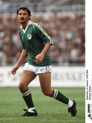 Mickey Walsh in action for Ireland in 1984.