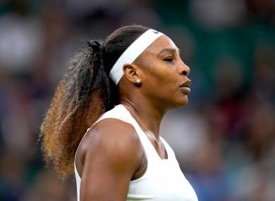 Serena Williams (file pic).