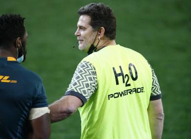 SA Rugby director of rugby Rassie Erasmus.