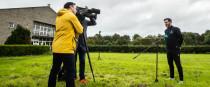 Shamrock Rovers boss Stephen Bradley interviewed by RTÉ.