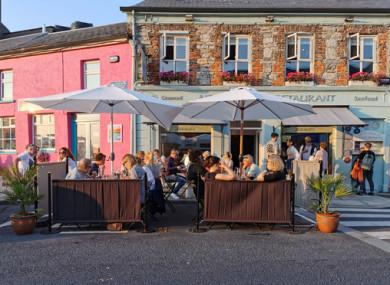 Clifden in Connemara yesterday evening.