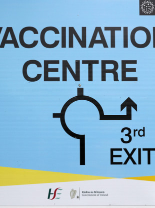 Vaccine centre in the Swords National Show Centre.