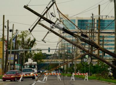 Destruction after Hurricane Ida