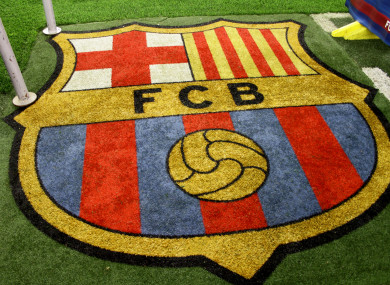 The Barcelona club crest (file pic).
