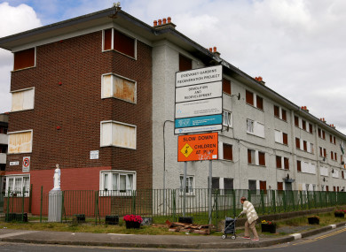 One of the blocks of flats before demolition in 2016.