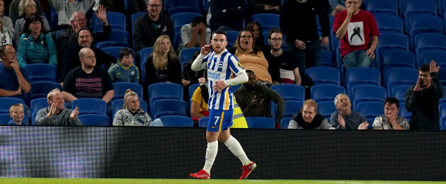 Aaron Connolly struck twice for Brighton at the Amex.