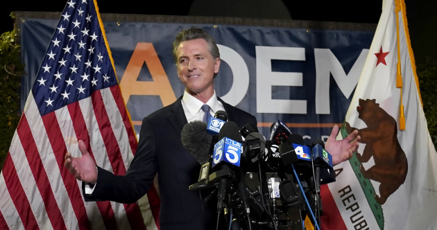 California's Democratic governor Gavin Newsom defeats recall election