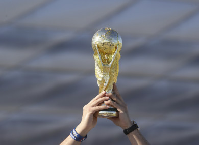 World Cup trophy (file pic).