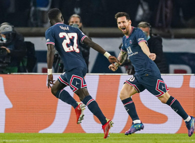 Idrissa Gueye and Lionel Messi both in PSG's win.