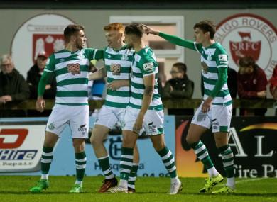 Rory Gaffney celebrates scoring his goal.