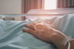 File photo of a patient in a hospital bed