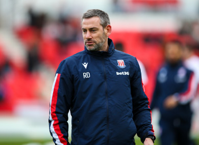 Stoke City's first team coach Rory Delap (file pic).