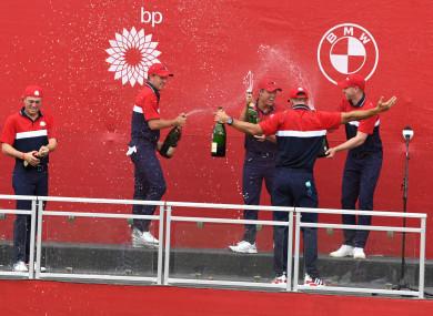 USA players celebrate.