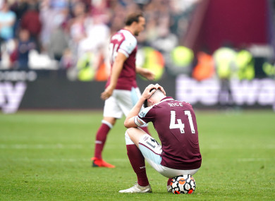 Declan Rice and Mark Noble were on the wrong side of a dramatic finish.