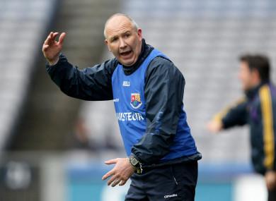 Glenn Ryan as Longford manager in 2012.