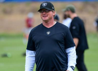 Jon Gruden has resigned as Las Vegas Raiders head coach.
