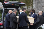 Paddy Moloney's  funeral service was held in St Kevin's Church, Glendalough today.