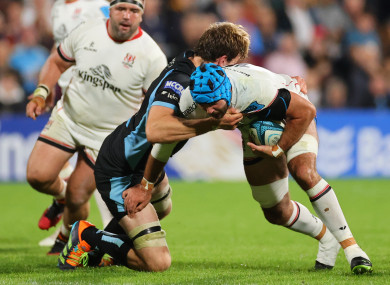 Mick Kearney carries for Ulster.